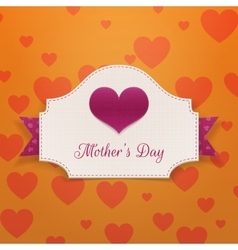Mothers Day greeting Banner with big Heart vector image