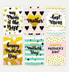 Mothers day trendy posters vector