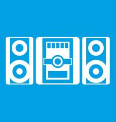 Music center icon white vector