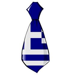 Necktie in national colours of Greece vector