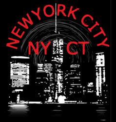 newyork city tee graphic design vector image