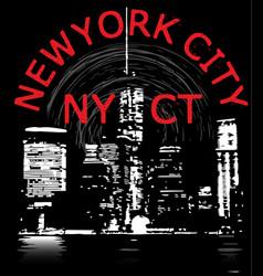 newyork city tee graphic design vector image