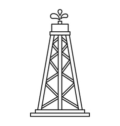 Oil resources icon outline style vector image