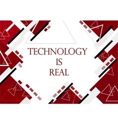 red background in technology and modern design for vector image