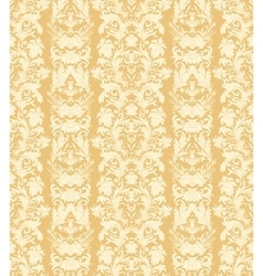 Royal striped seamless pattern rococo floral vector