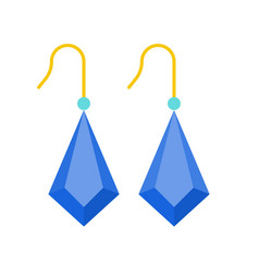 sapphire blue drop earring jewelry related icon vector image