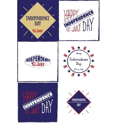 Set of cards Independence day vector