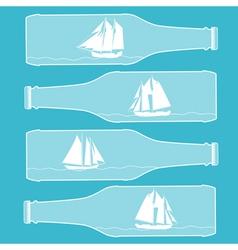 Ships in bottles vector