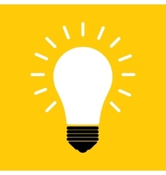 Simple light bulb icon vector image