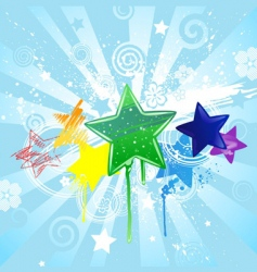 Stars painted vector