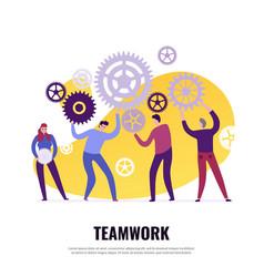 Teamwork flat concept vector