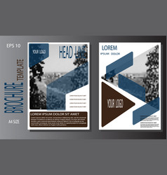 Template cover brochure booklet book folder vector