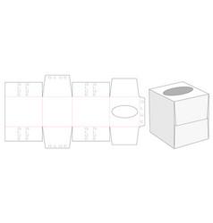 Tissues box die cut template vector