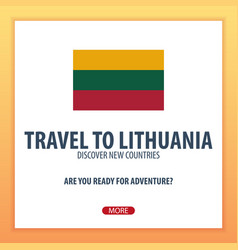 Travel to lithuania discover and explore new vector