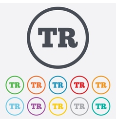 Turkish language sign icon TR translation vector image