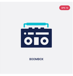 two color boombox icon from creative pocess vector image