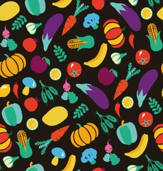 Vegatables and fruits pattern 38 vector