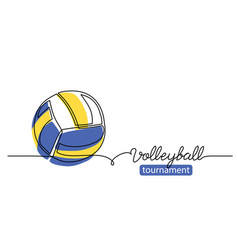 volleyball tournament simple background vector image