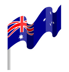 waving flag of australia vector image