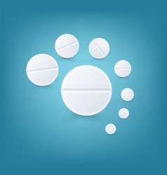 white round pills vector image