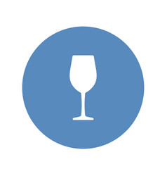 wine glass icon placed in blue circle vector image