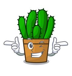 Wink character spurge cactus home decor indoor vector