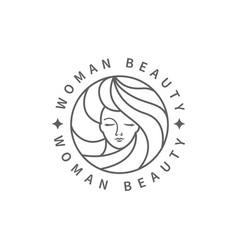 woman beauty fashion logo vector image