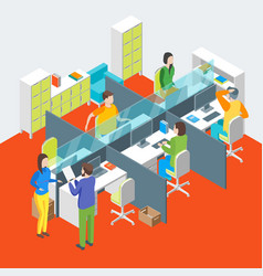 work space office interior with furniture vector image
