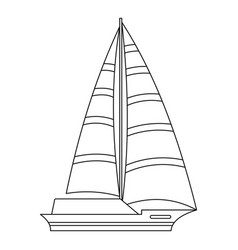 Yacht icon outline style vector