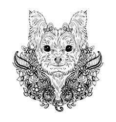 Yorkshire Terrier graphic dog abstract vector image