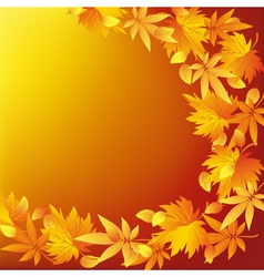 Abstract nature yellow background with leaf fall vector image vector image
