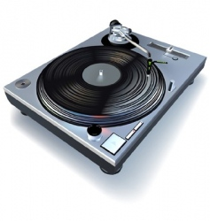 dj gramophone vector image vector image