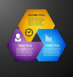 Progress icons for three steps vector image