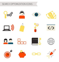 Search optimization icons vector