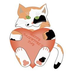 valentines day kitten vector image