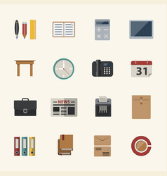 business and office icon flat icons set for vector image