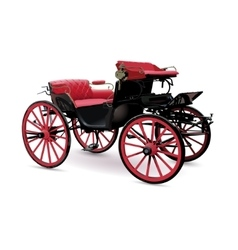 Chariot with red vector image