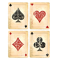 Decrepit Playing Cards Set vector image vector image