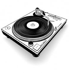 dj gramophone vector image
