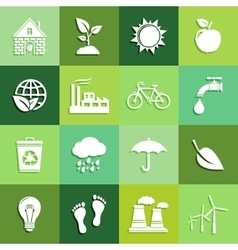 Ecology flat icons vector image