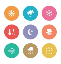Flat design style weather icons vector image vector image