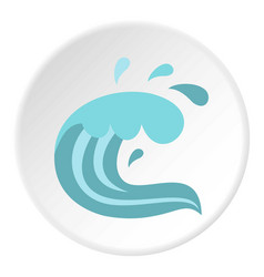 sea icon circle vector image vector image