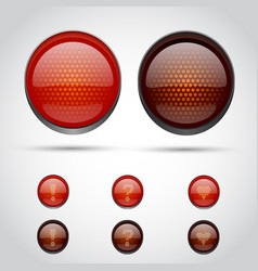 traffic lights isolated on white vector image vector image
