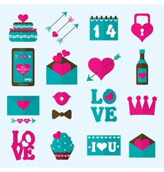 Valentine flat icon vector image vector image