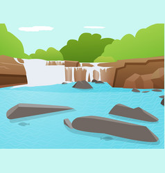 Waterfall background tat ton waterfall thailand vector