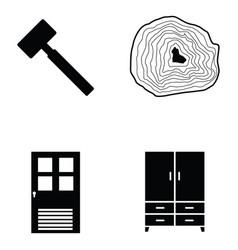 carpenter icon set vector image vector image