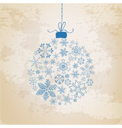 Christmas Ball made from Vintage Snowflakes vector image vector image