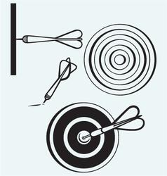 Dart on target vector image vector image