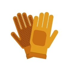 Gardening flat yellow gloves for work isolated on vector image vector image