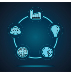 Group of business related icons vector image vector image